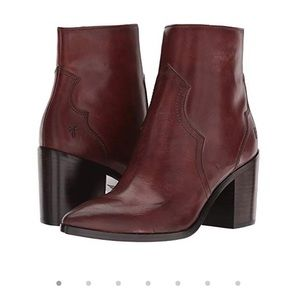 Frye Flynn bootie in brown leather